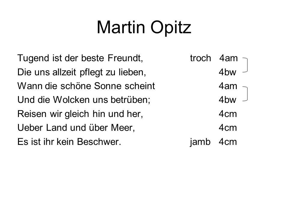 Martin Opitz Tugend ist der beste Freundt, troch 4am