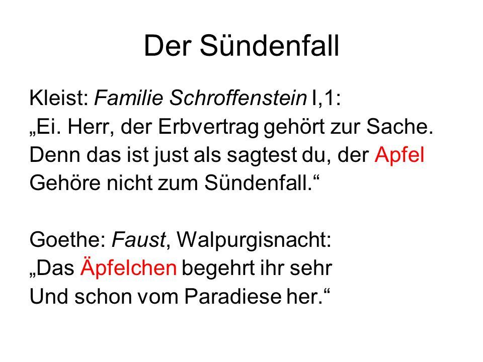 Der Sündenfall Kleist: Familie Schroffenstein I,1: