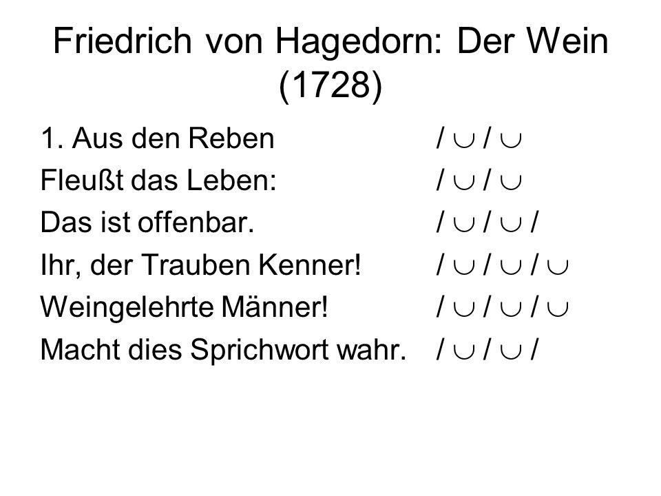 Friedrich von Hagedorn: Der Wein (1728)