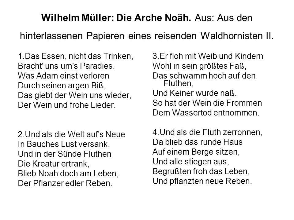 Wilhelm Müller: Die Arche Noäh