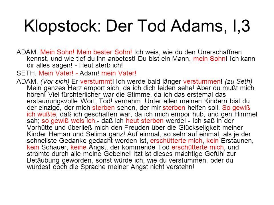 Klopstock: Der Tod Adams, I,3