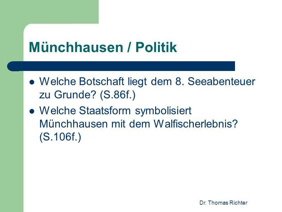 Münchhausen / Politik Welche Botschaft liegt dem 8. Seeabenteuer zu Grunde (S.86f.)