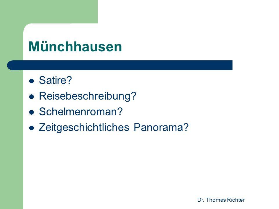 Münchhausen Satire Reisebeschreibung Schelmenroman