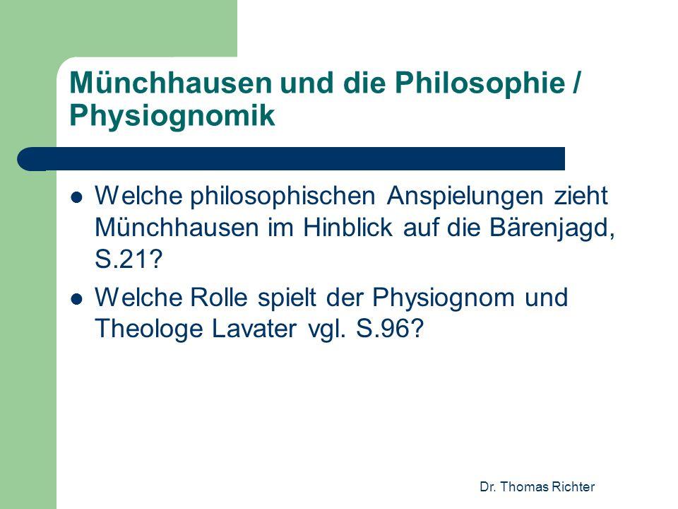 Münchhausen und die Philosophie / Physiognomik