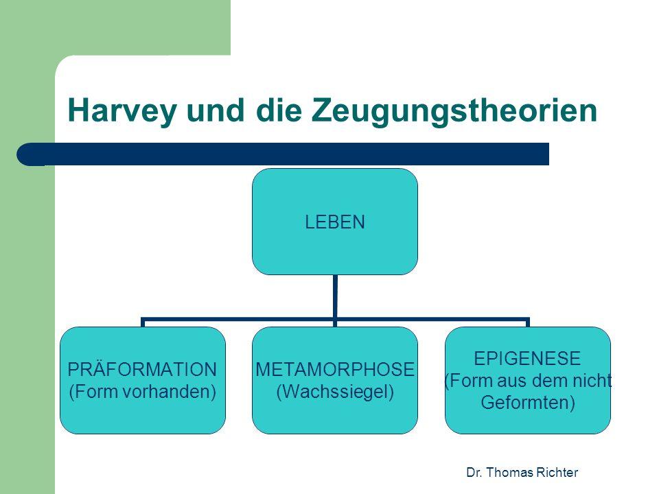 Harvey und die Zeugungstheorien