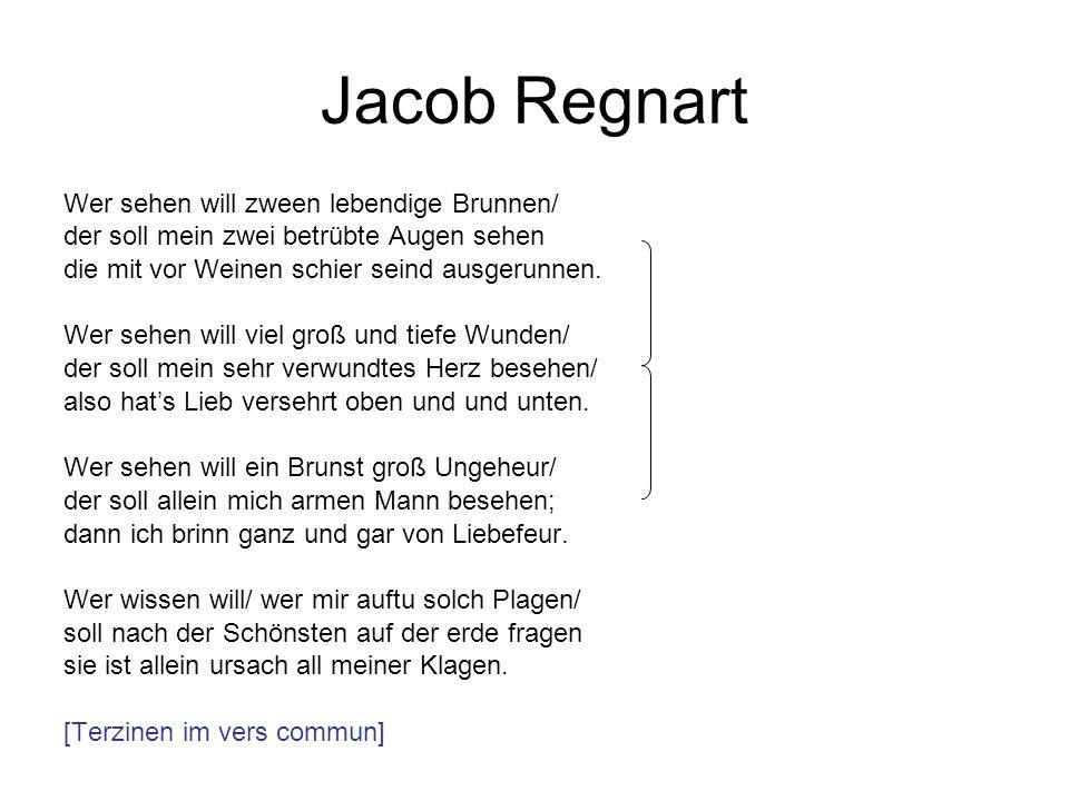 Jacob Regnart Wer sehen will zween lebendige Brunnen/