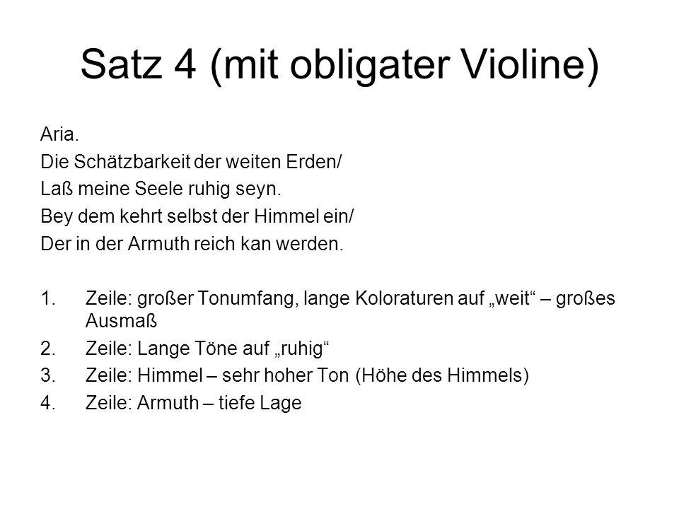 Satz 4 (mit obligater Violine)