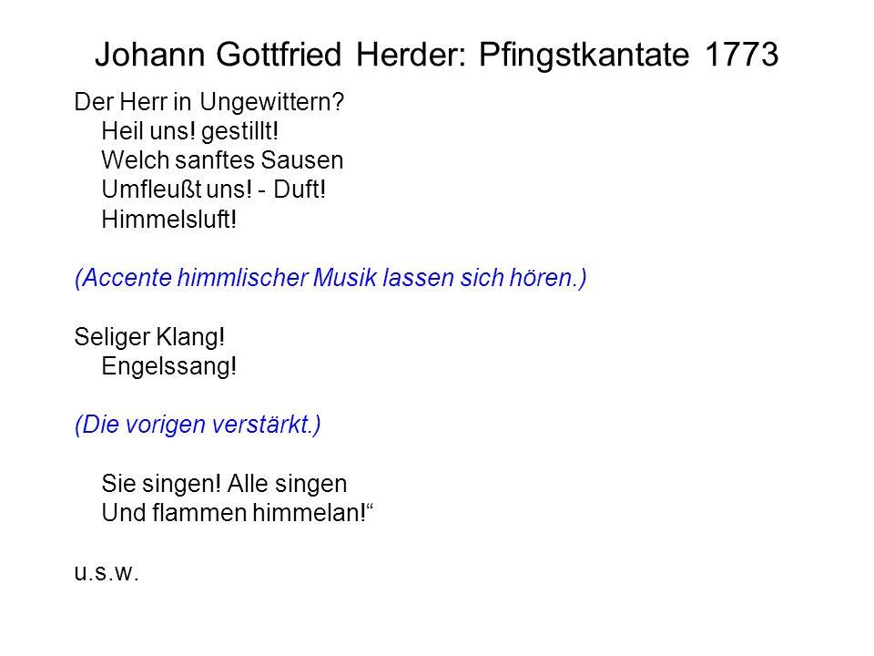 Johann Gottfried Herder: Pfingstkantate 1773