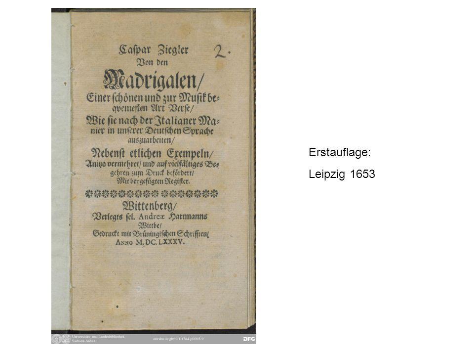 Erstauflage: Leipzig 1653