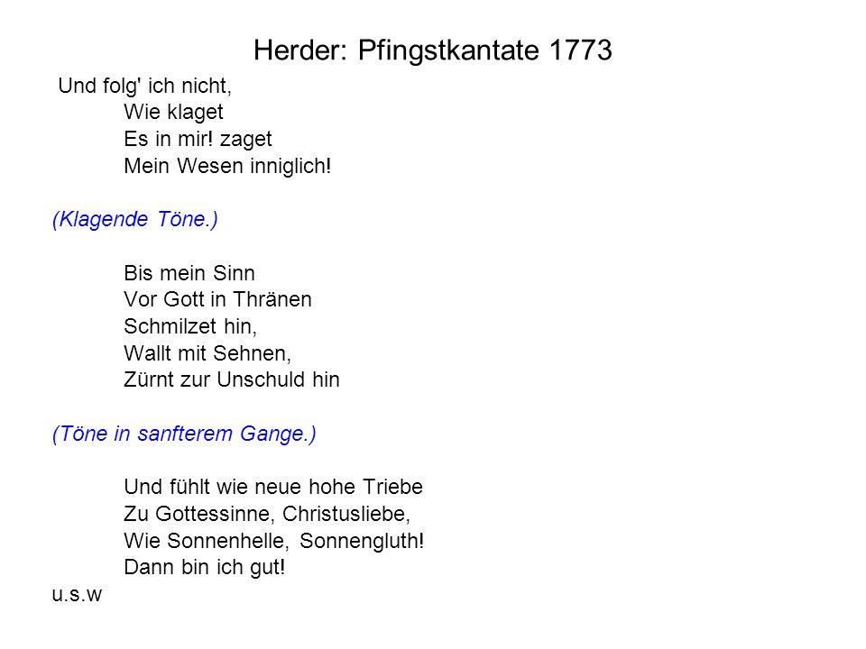 Herder: Pfingstkantate 1773