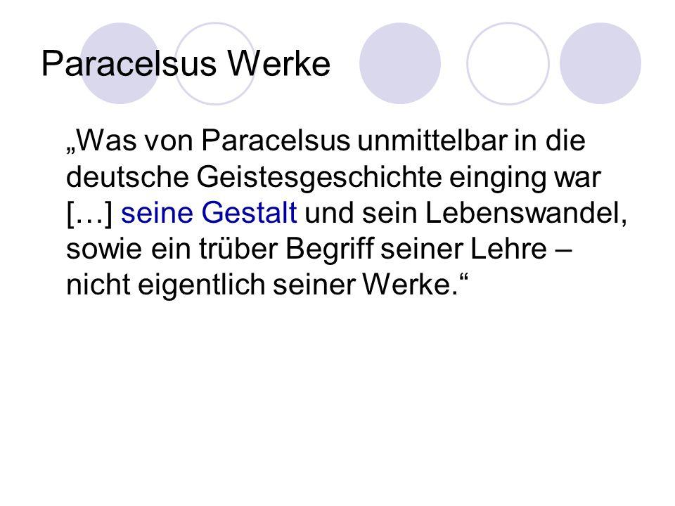 Paracelsus Werke