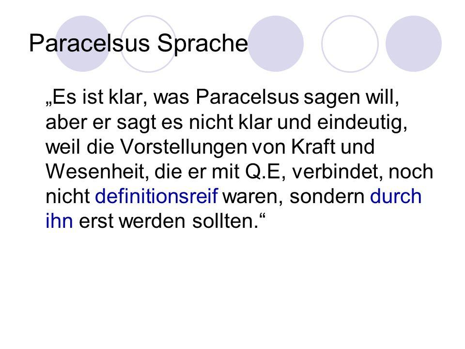 Paracelsus Sprache