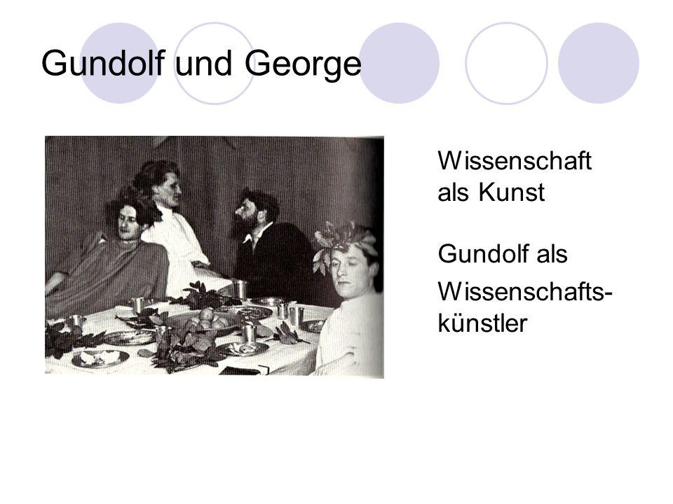 Gundolf und George Wissenschaft als Kunst Gundolf als
