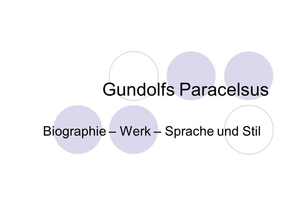 Biographie – Werk – Sprache und Stil