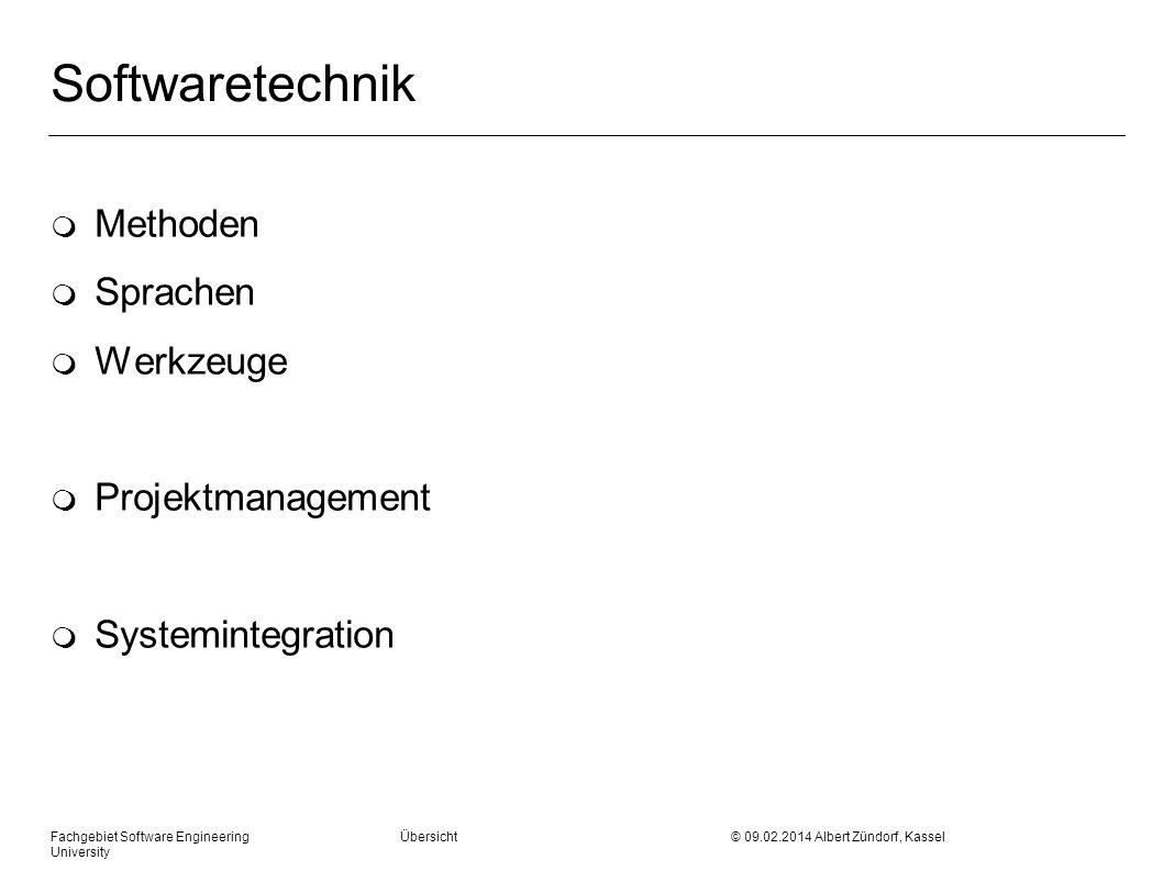 Softwaretechnik Methoden Sprachen Werkzeuge Projektmanagement