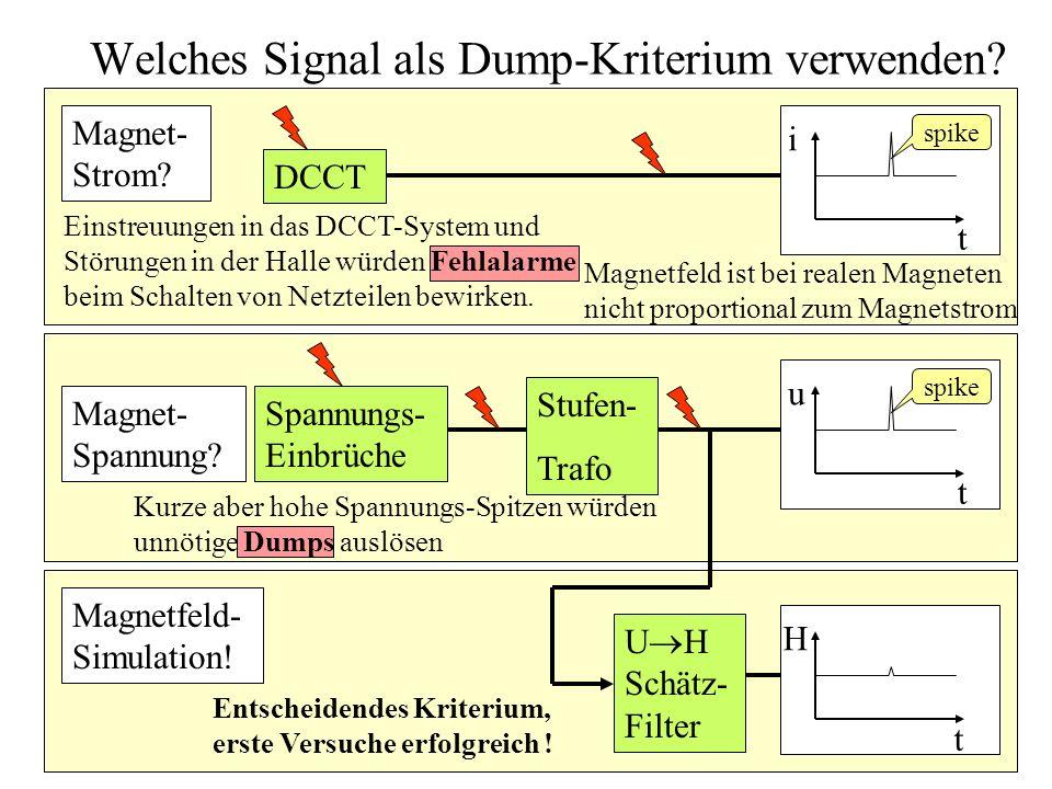 Welches Signal als Dump-Kriterium verwenden