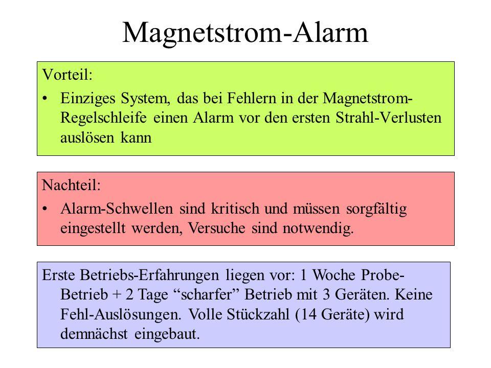 Magnetstrom-Alarm Vorteil: