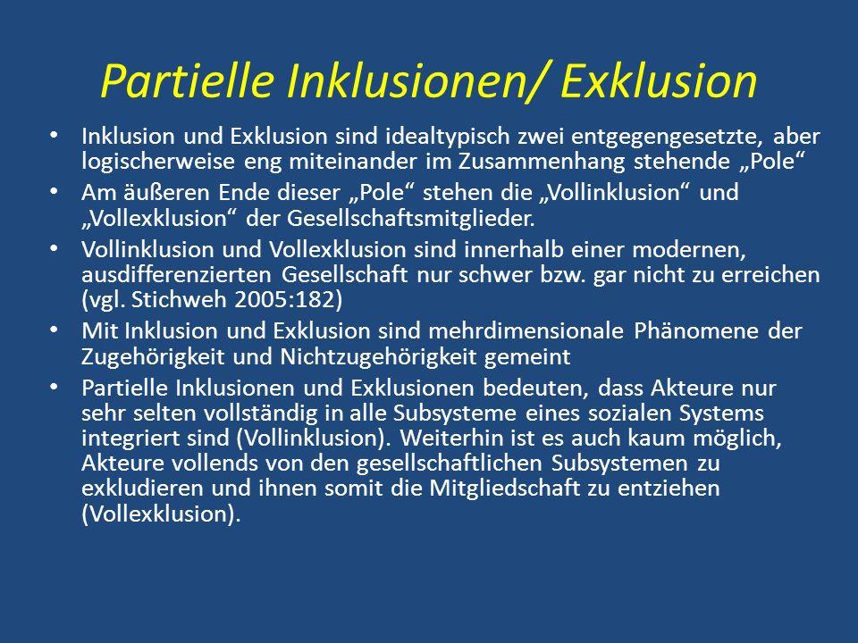 Partielle Inklusionen/ Exklusion