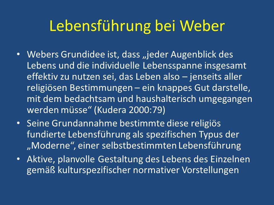 Lebensführung bei Weber