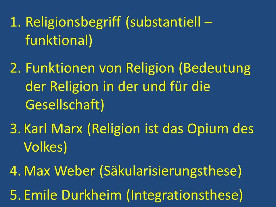 Religionsbegriff (substantiell – funktional)