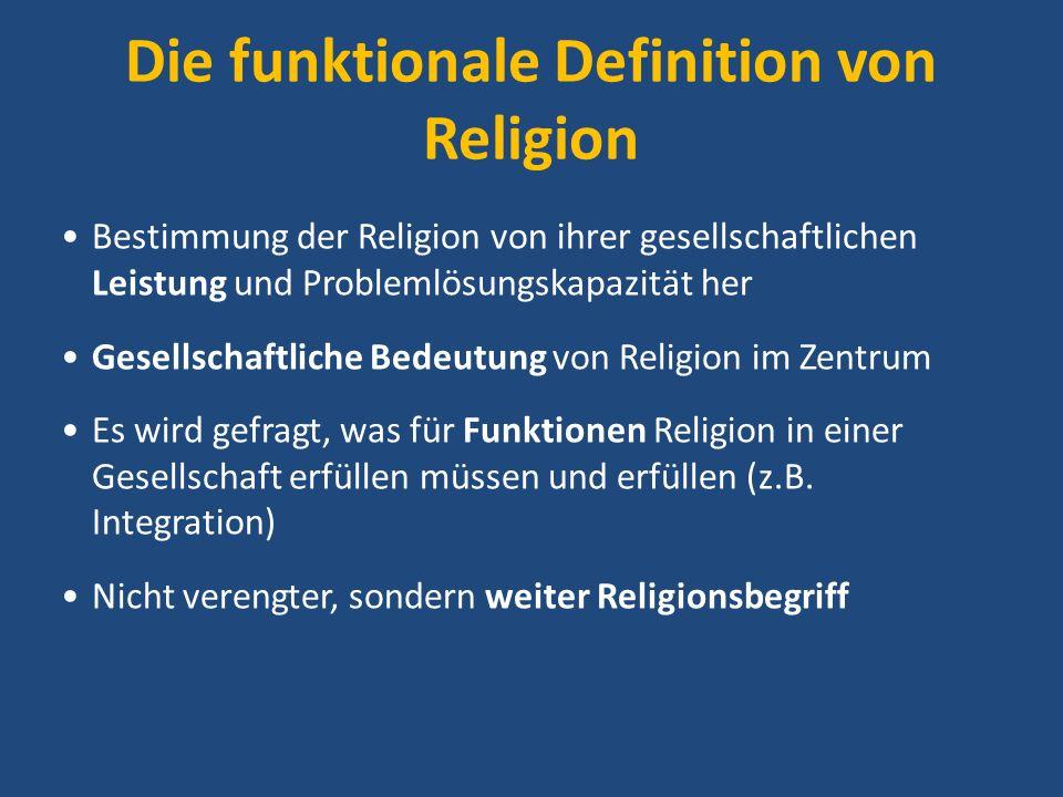 Die funktionale Definition von Religion