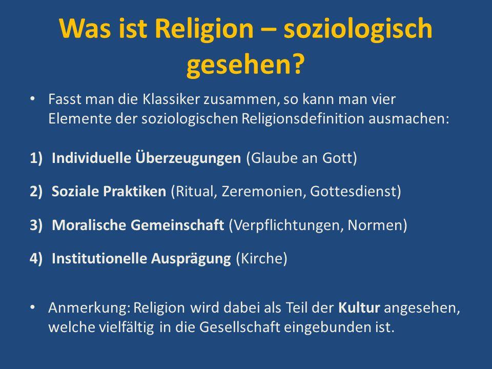 Was ist Religion – soziologisch gesehen