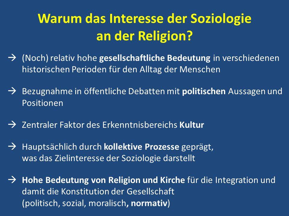 Warum das Interesse der Soziologie an der Religion