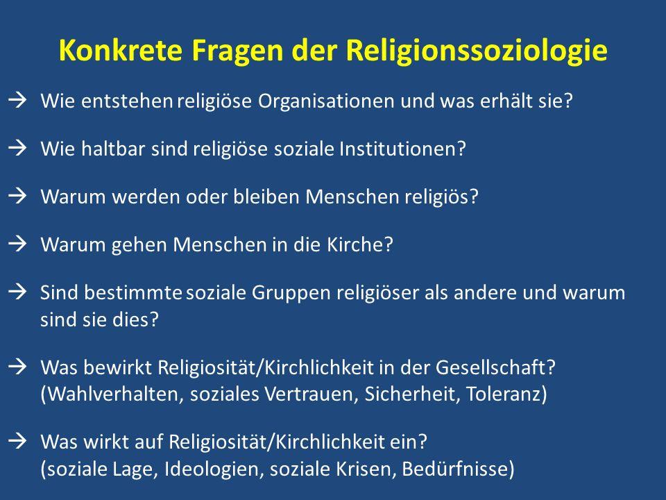 Konkrete Fragen der Religionssoziologie