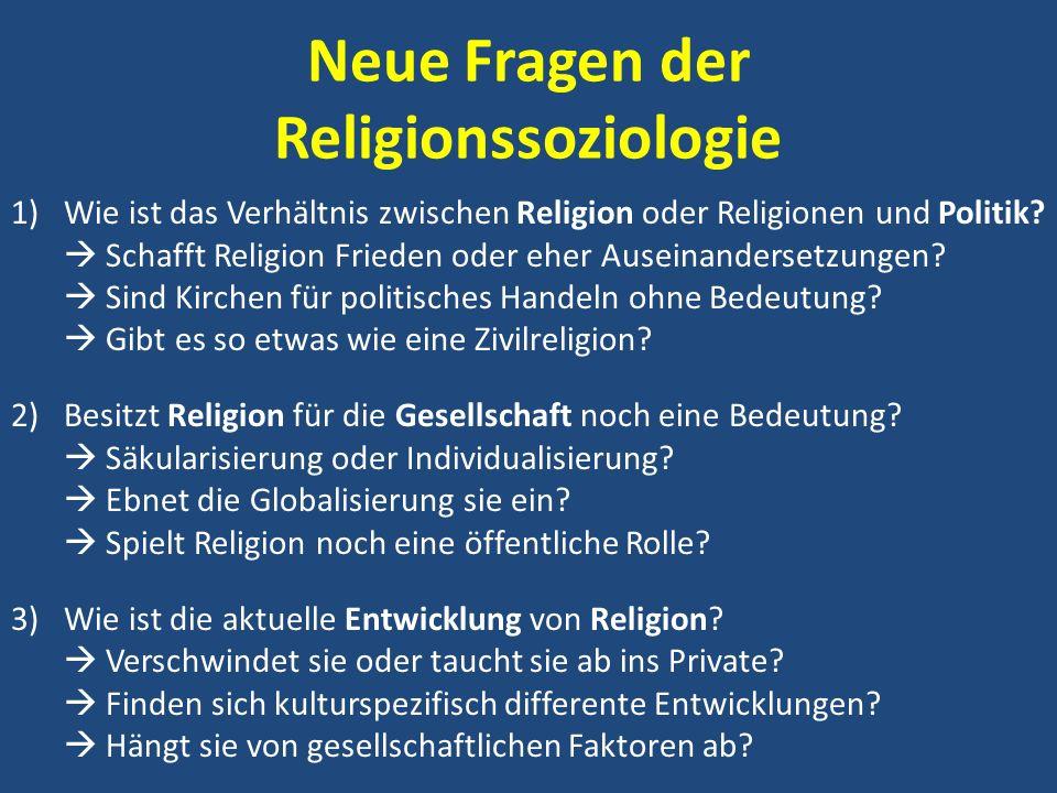 Neue Fragen der Religionssoziologie