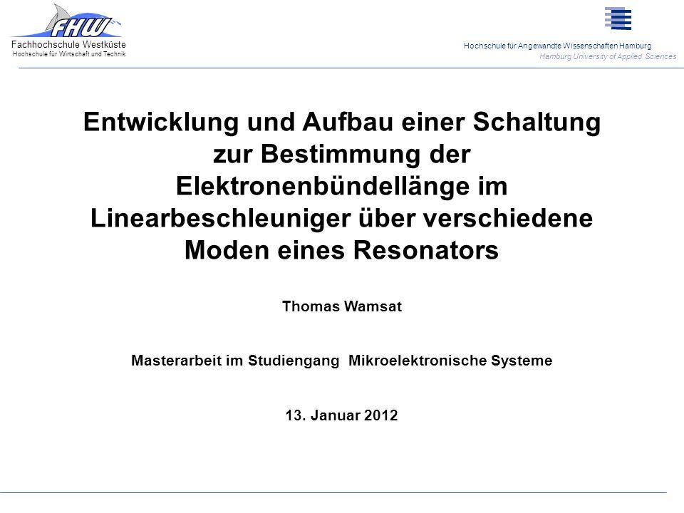 Masterarbeit im Studiengang Mikroelektronische Systeme
