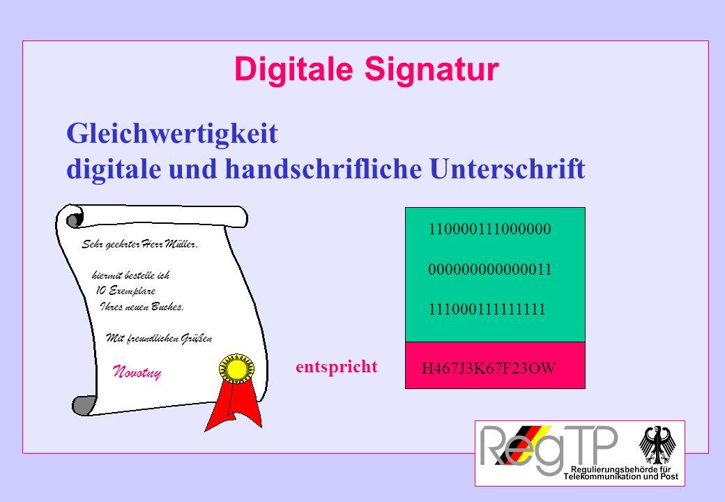 Digitale Signatur Gleichwertigkeit