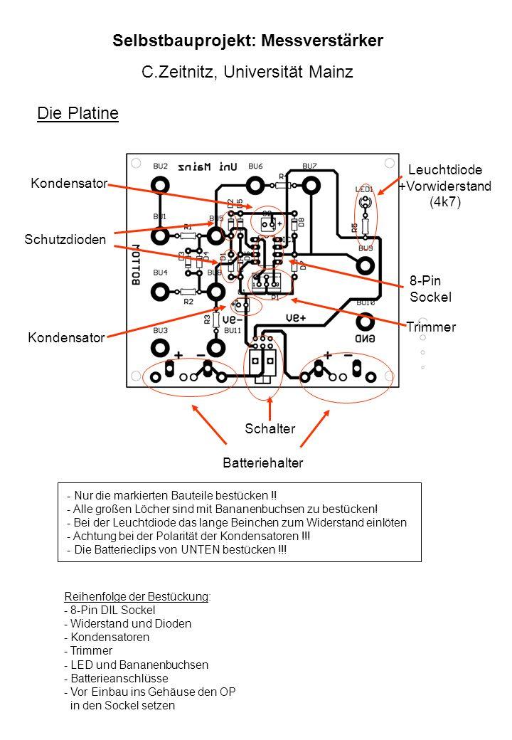 Selbstbauprojekt: Messverstärker