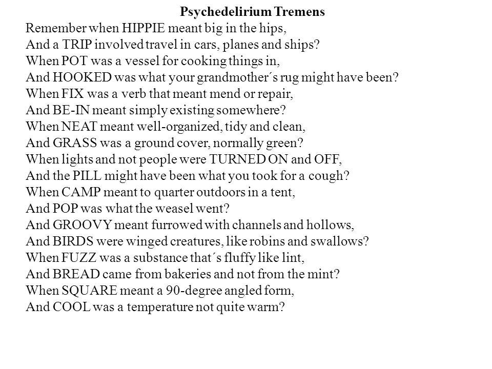 Psychedelirium Tremens