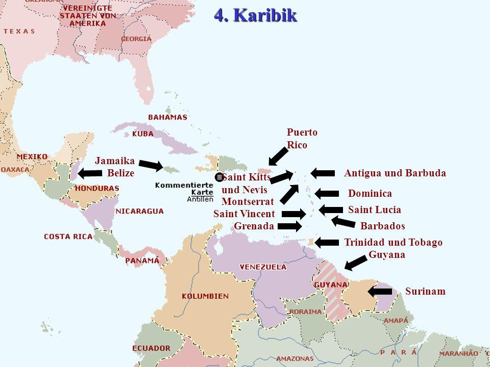 4. Karibik Puerto Rico Jamaika Belize Antigua und Barbuda