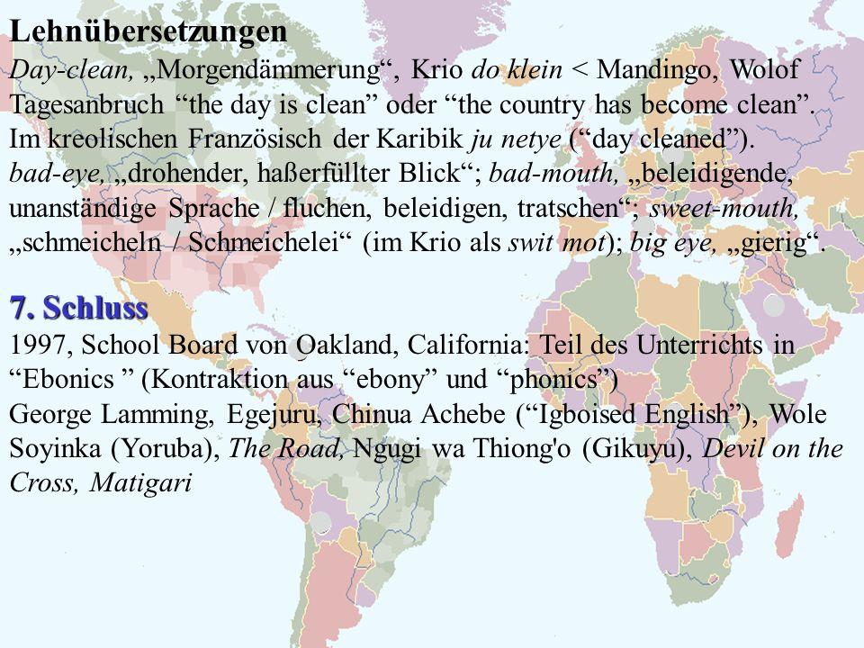 Lehnübersetzungen 7. Schluss