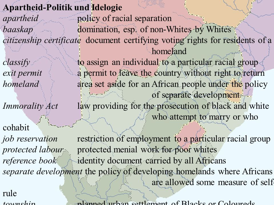 Apartheid-Politik und Idelogie
