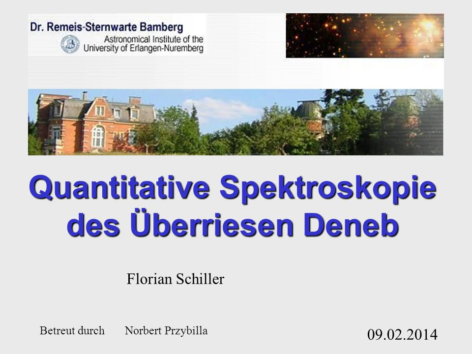 Quantitative Spektroskopie des Überriesen Deneb