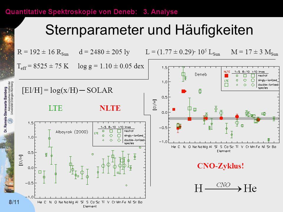 Sternparameter und Häufigkeiten