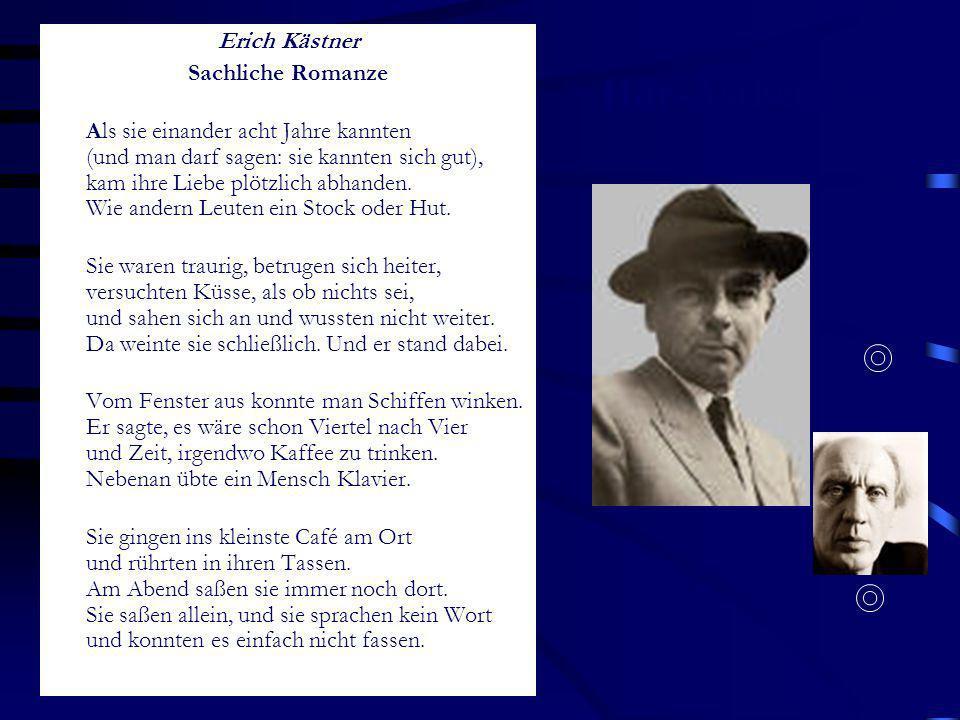 Hör-Ästhetik II Erich Kästner Sachliche Romanze