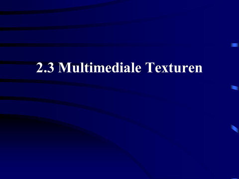 2.3 Multimediale Texturen