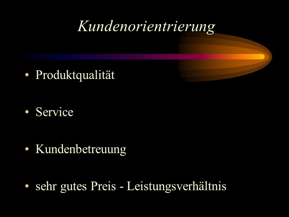 Kundenorientrierung Produktqualität Service Kundenbetreuung