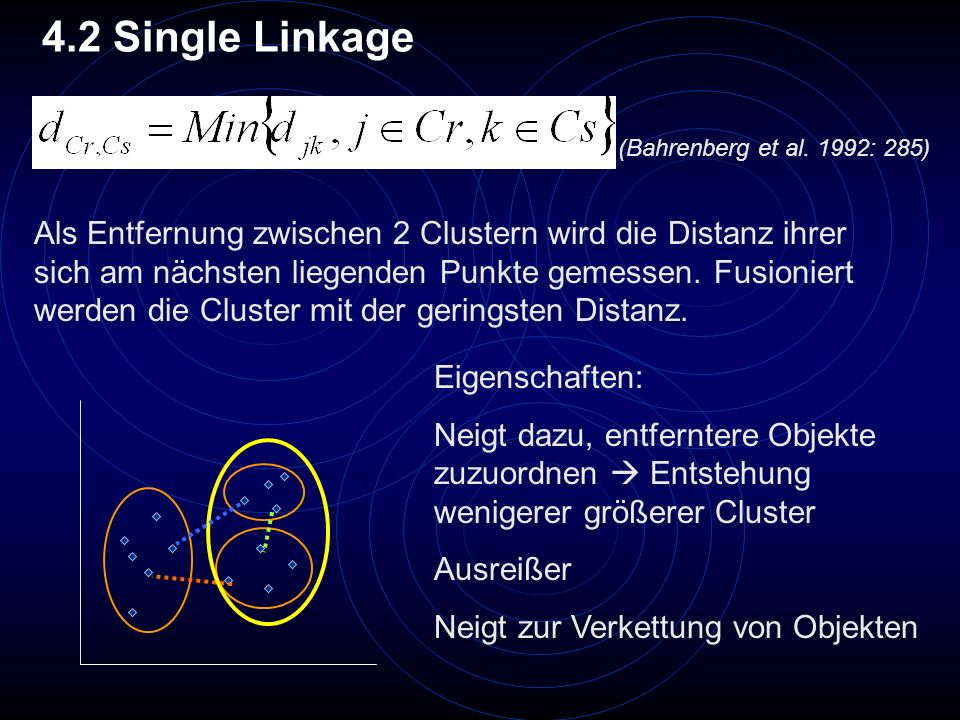 4.2 Single Linkage (Bahrenberg et al. 1992: 285)
