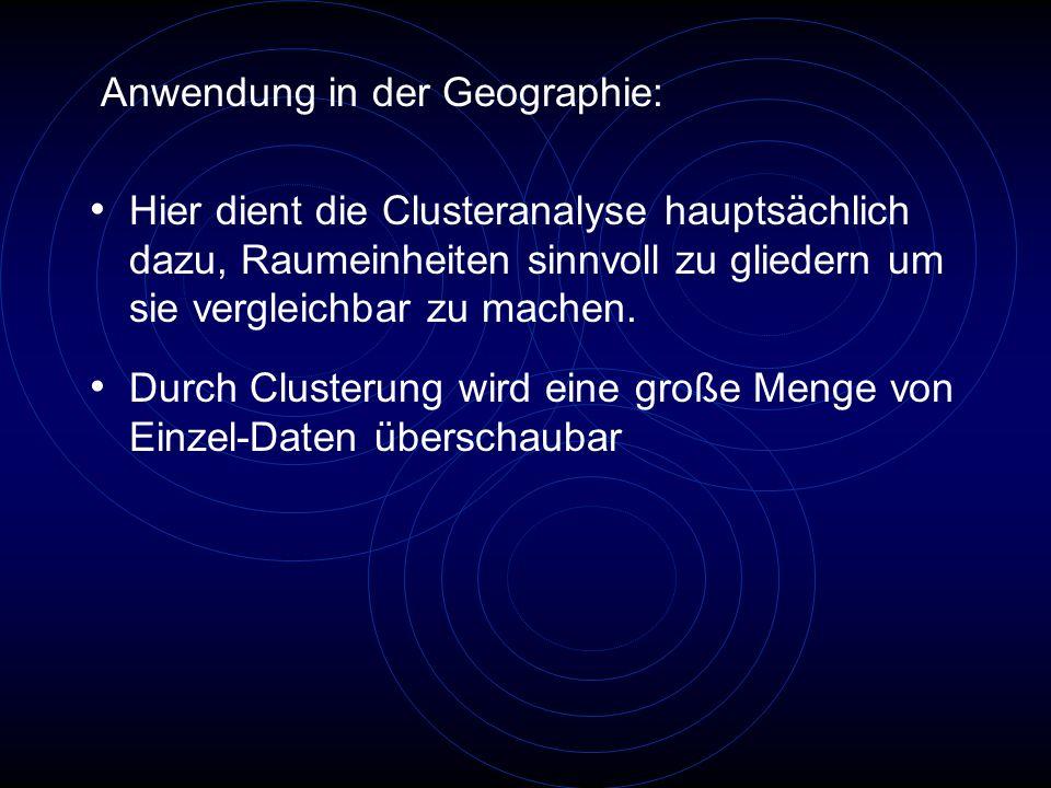Anwendung in der Geographie: