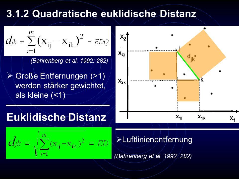 Euklidische Distanz 3.1.2 Quadratische euklidische Distanz x2