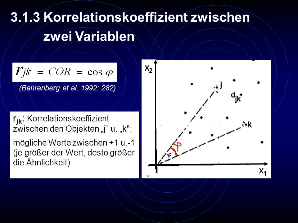 3.1.3 Korrelationskoeffizient zwischen zwei Variablen