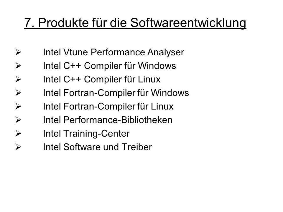 7. Produkte für die Softwareentwicklung