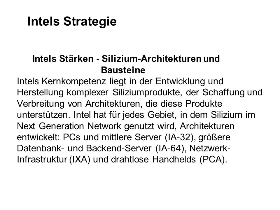 Intels Strategie