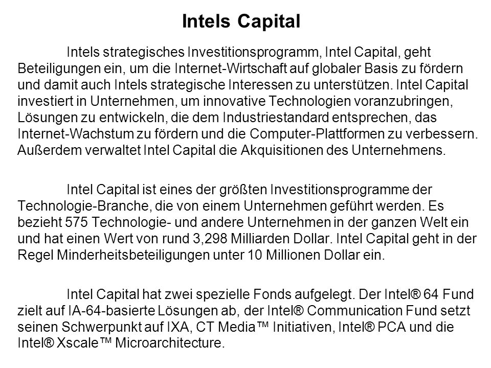 Intels Capital
