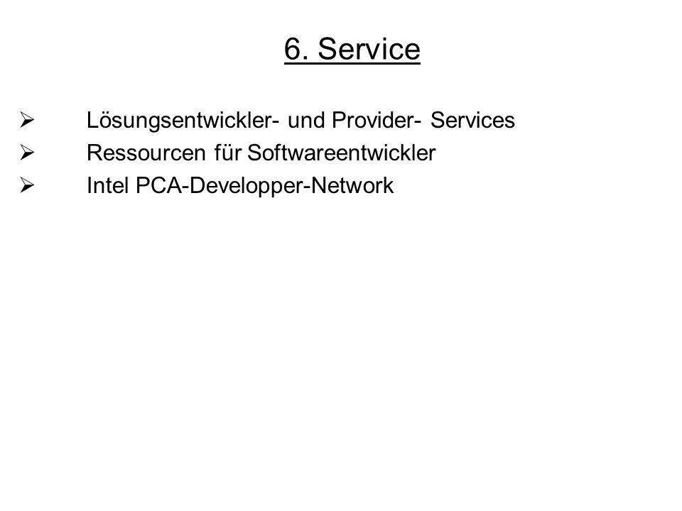 6. Service Lösungsentwickler- und Provider- Services