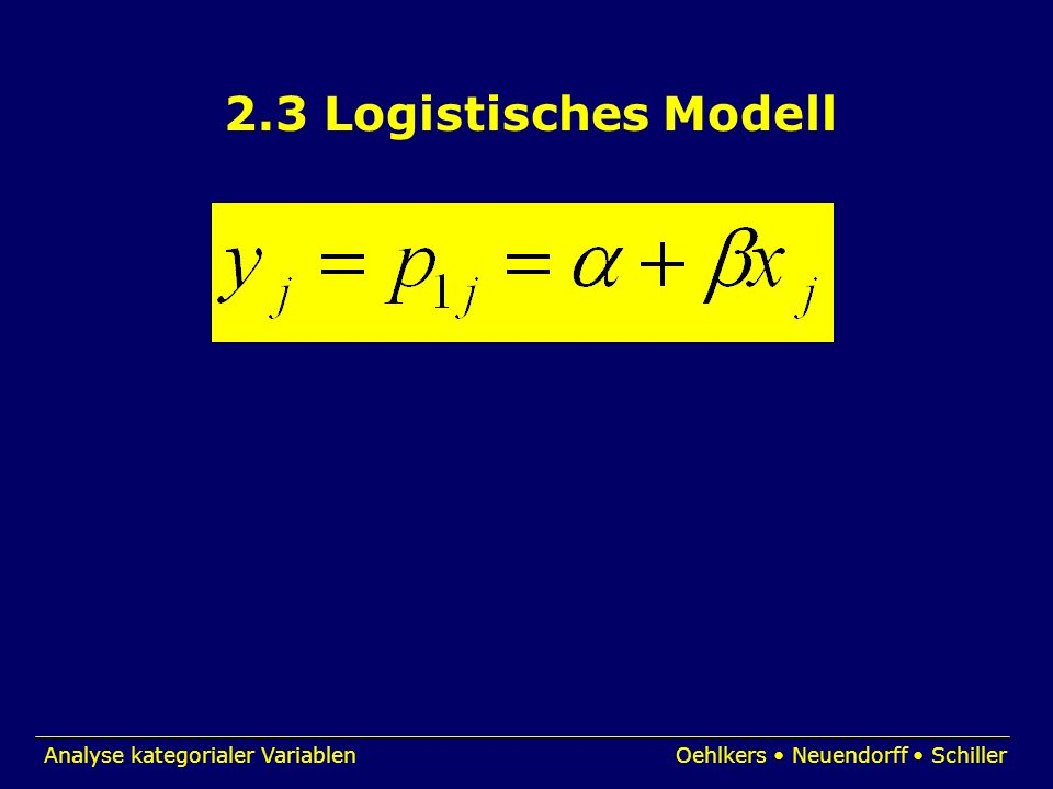 2.3 Logistisches Modell